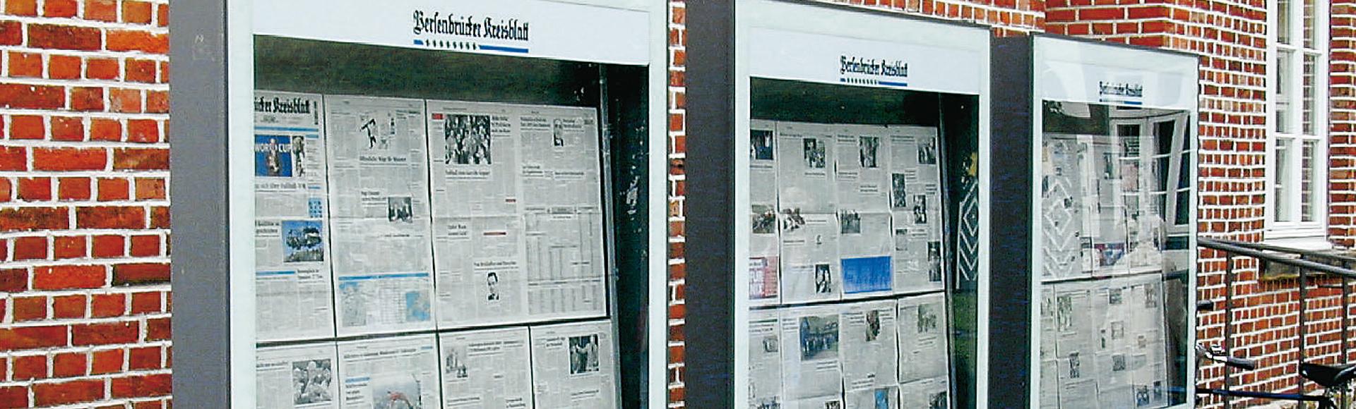 Schaukästen (für Zeitungsaushänge) von ADCO